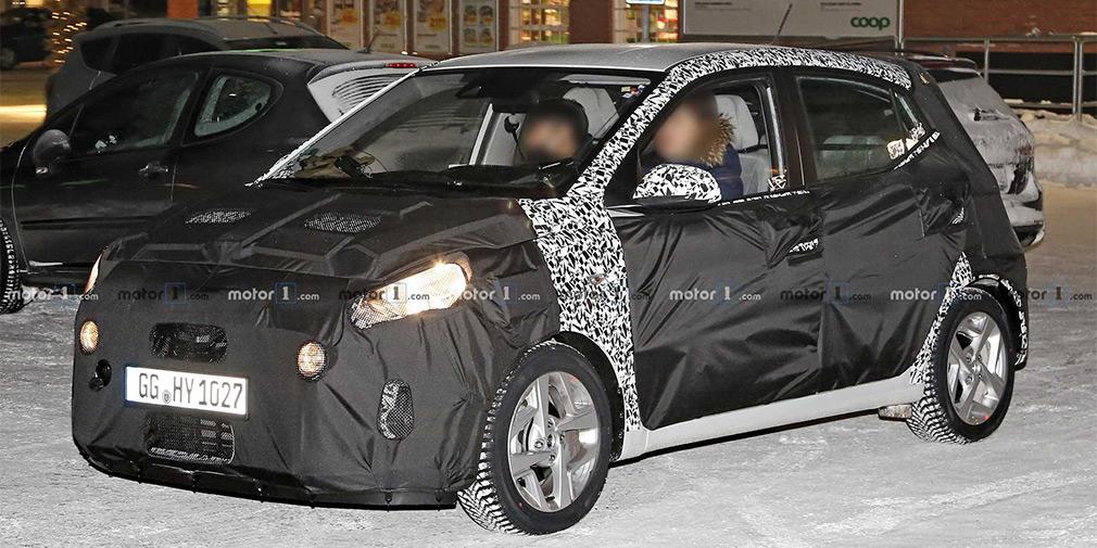Hyundai вывел на тесты маленький хэтчбек i10 нового поколения 1