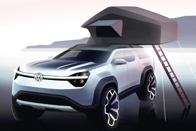 VW готовит суровый бюджетный электрический внедорожник 1