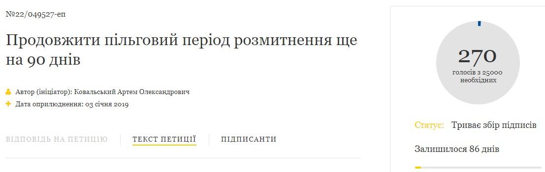 Петра Порошенко просят продолжить сроки льготной растаможки 1