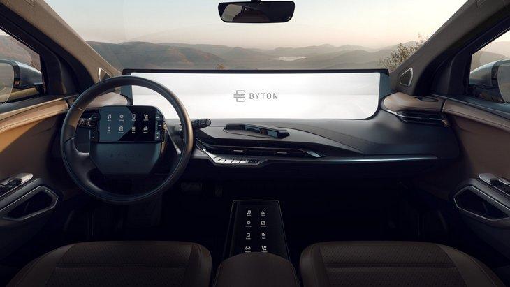Китайский Byton покажет автомобиль с огромным 48-дюймовым дисплеем в салоне 1