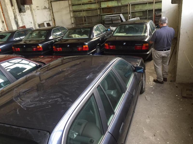 В Болгарии обнаружен склад новых BMW E34 1