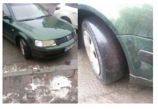 В Сети обсуждают авто на еврономерах с глянцевыми шинами 1