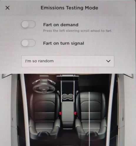 Автомобили Tesla научили «пускать газы» 1
