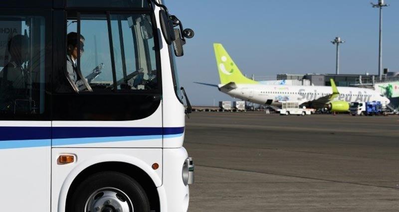 Токийский аэропорт начал испытания беспилотного автобуса 1