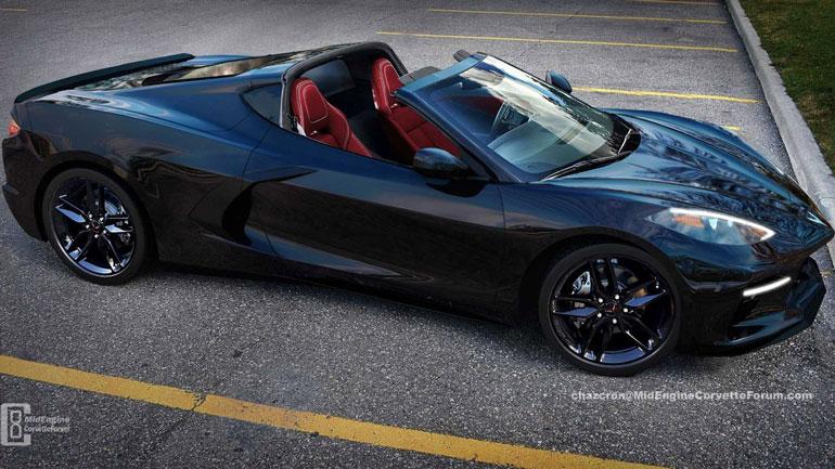 В Сети опубликованы рендеры нового Chevrolet Corvette в кузове «тарга» 1