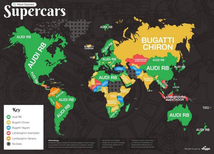 Какие суперкары «гуглят» чаще всего в мире 1