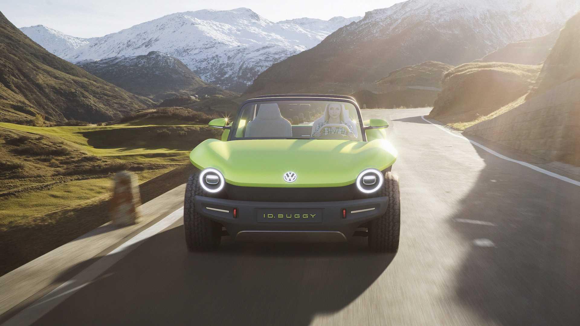 Volkswagen превратил электромобиль I.D. в новый Buggy Concept 2