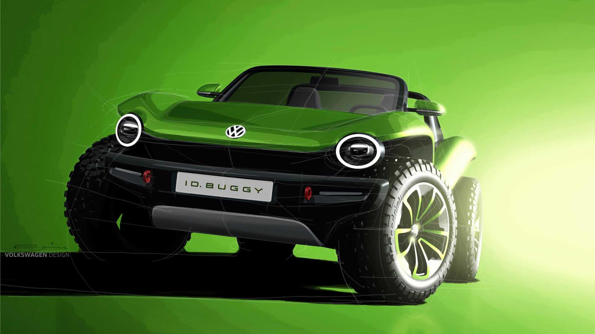 Volkswagen превратил электромобиль I.D. в новый Buggy Concept 1