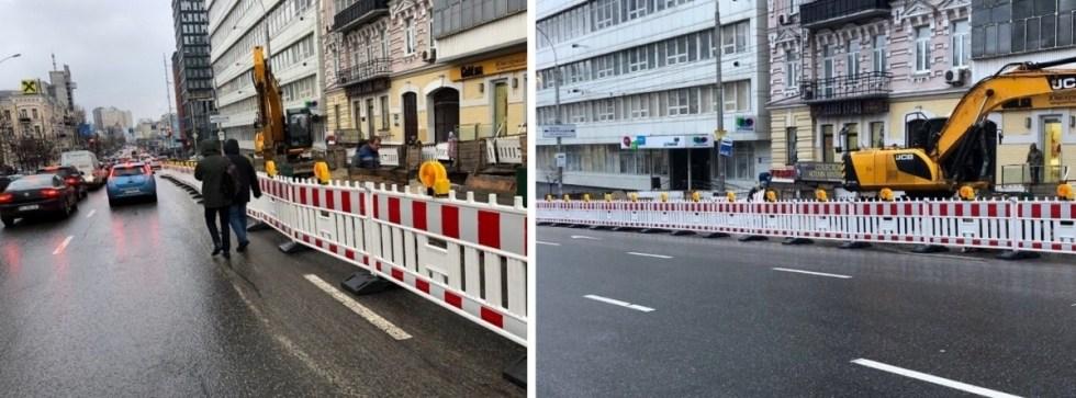 В Киеве появились новые дорожные ограждения 1