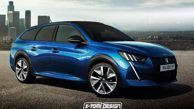 В Сети появились первые изображения универсала Peugeot 208 Wagon 2020 1