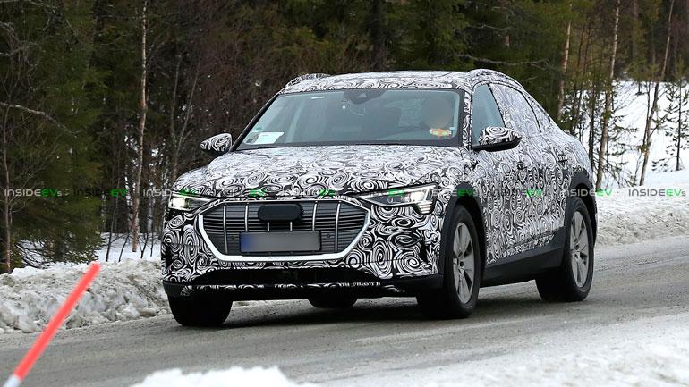 Audi e-tron Sportback проходит зимние тесты 1