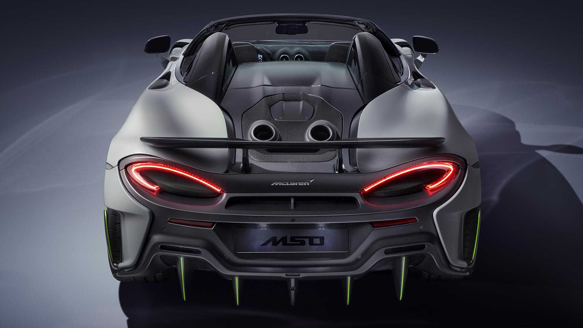 McLaren 600LT Spider перед шоу в Женеве получил версию MSO 2