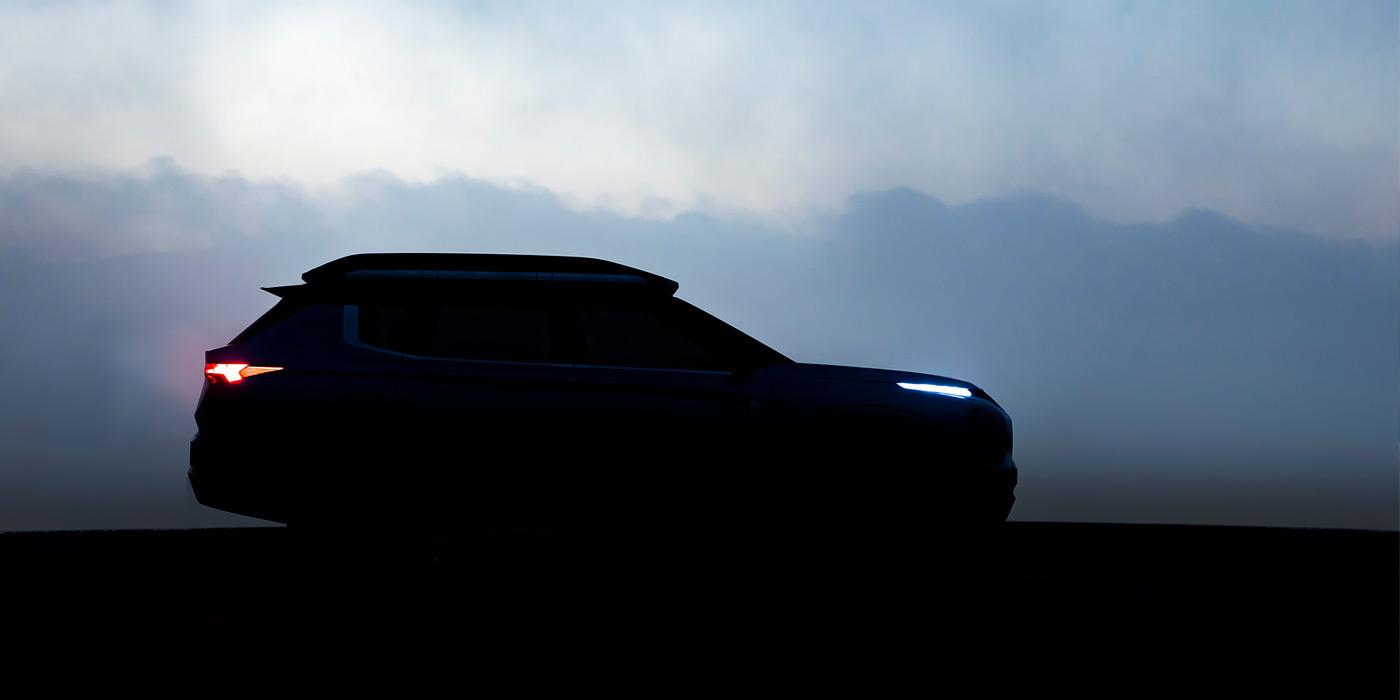 Mitsubishi показала силуэт нового кроссовера 1
