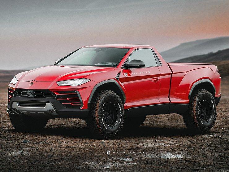 Как будет выглядеть роскошный Lamborghini Urus в кузове пикап 1