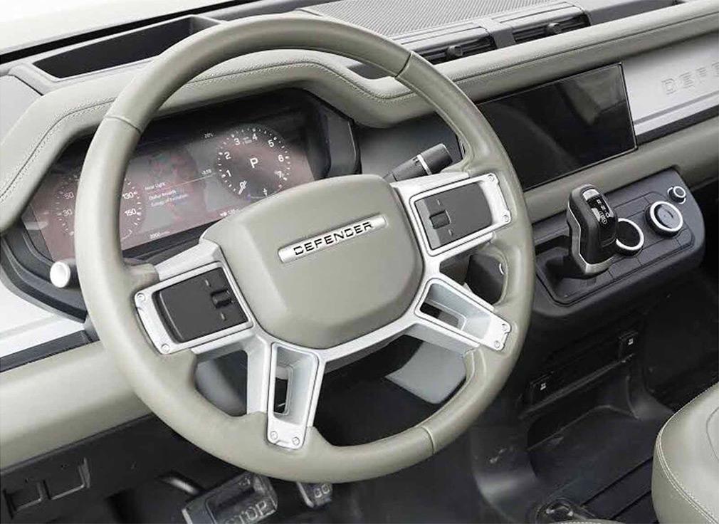 Опубликован первый снимок салона нового Land Rover Defender 1