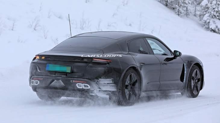 Новейший электрический Porsche Taycan засветился на подробных фото 3