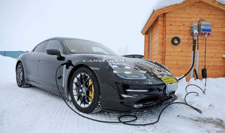Новейший электрический Porsche Taycan засветился на подробных фото 1