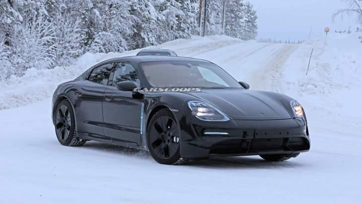 Новейший электрический Porsche Taycan засветился на подробных фото 2