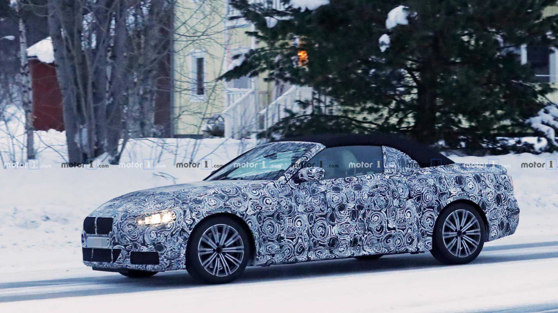 Новая BMW 4 Series Convertible вышла на дорожные испытания 1
