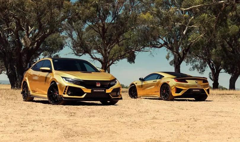 Honda покрыла золотом спорткары, мотоциклы и газонокосилку 1
