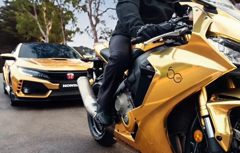 Honda покрыла золотом спорткары, мотоциклы и газонокосилку 2