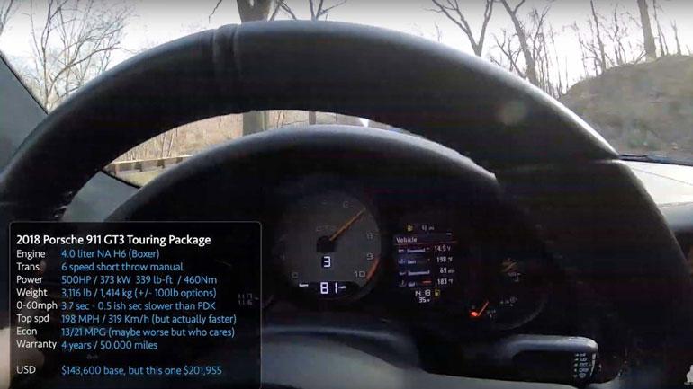 Porsche 911 GT3 получил новую версию Touring 3