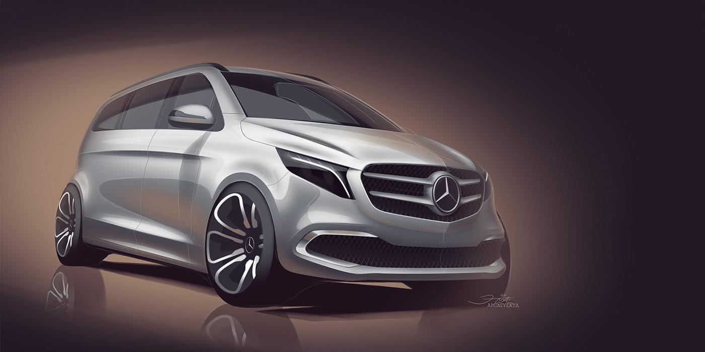 Mercedes привезет в Женеву электрический минивэн 1