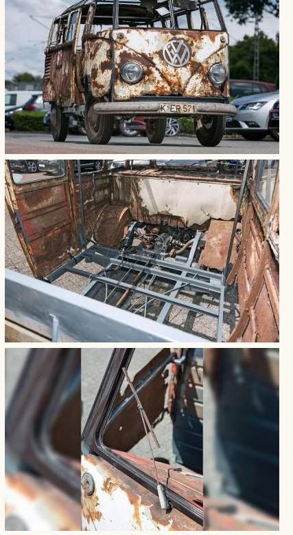 В Германии нашли редкий VW Transporter 50-х годов 1