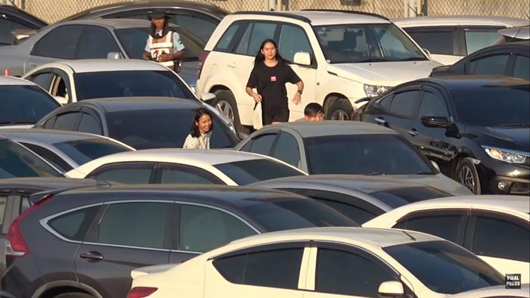 Как выглядит самая загруженная парковка в мире 1