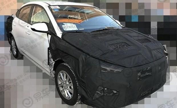 Первые фото нового Hyundai Accent с фонарями «под Lexus» 1