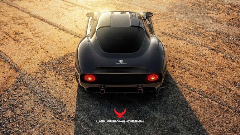 Тюнеры сделали спорткар Alfa Romeo 4C в ретро-стиле 2