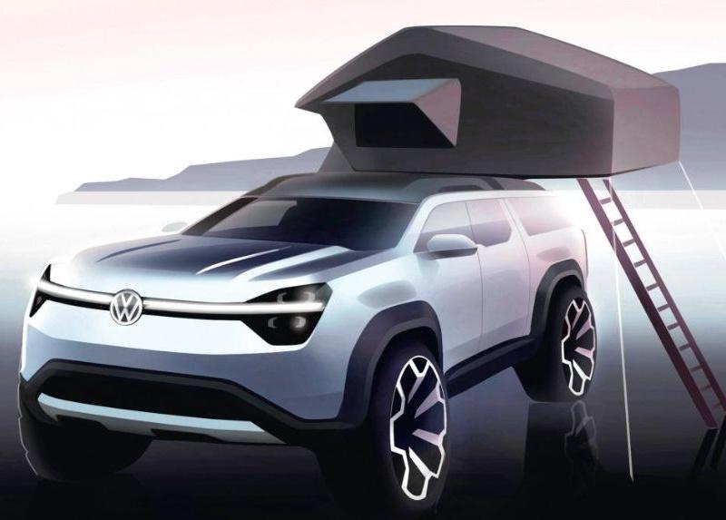 Опубликованы первые эскизы нового внедорожника Volkswagen 1