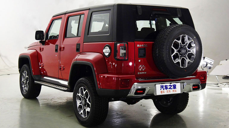 BAIC представит «клон» внедорожника Jeep Wrangler 1