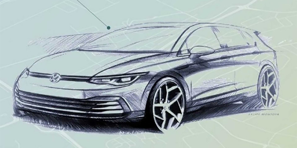 Volkswagen раскрыл внешность нового Golf 1