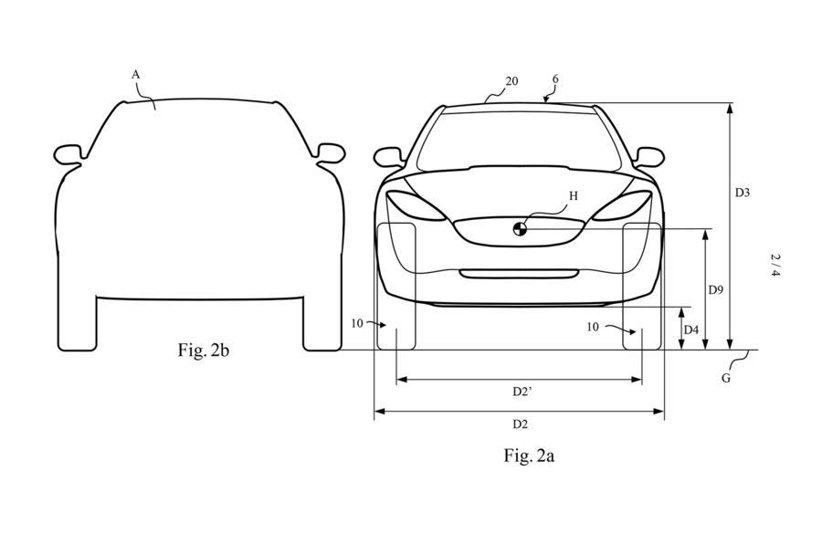 Производитель пылесосов опубликовал патентные изображения своего первого электрокара 1