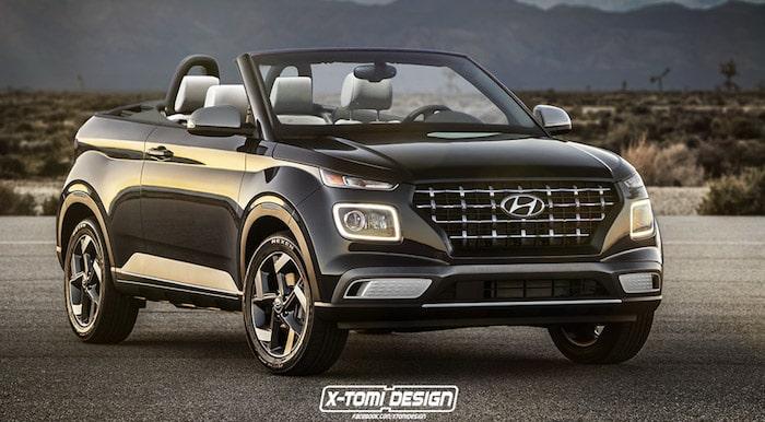 Дешевый кроссовер Hyundai показали в кузове кабриолет 1