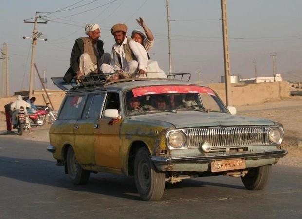 Волга такси – невероятная эксплуатация в Афганистане 1