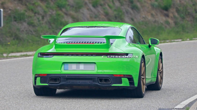 Porsche вывел на тесты мистический прототип Porsche 992 2