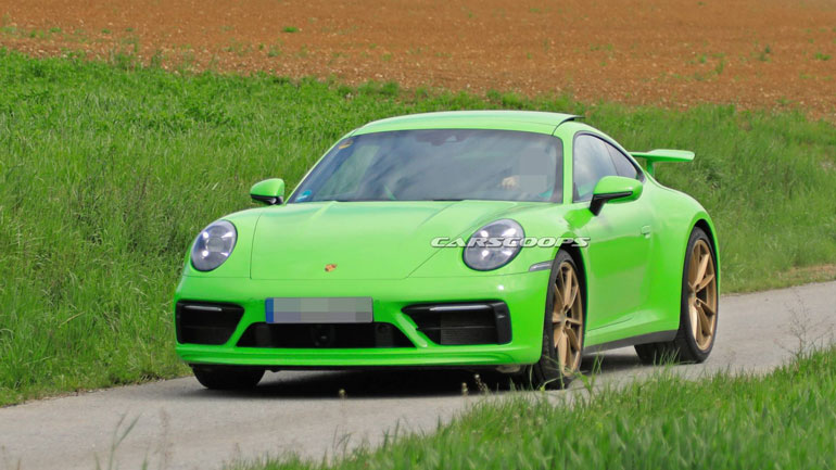 Porsche вывел на тесты мистический прототип Porsche 992 1