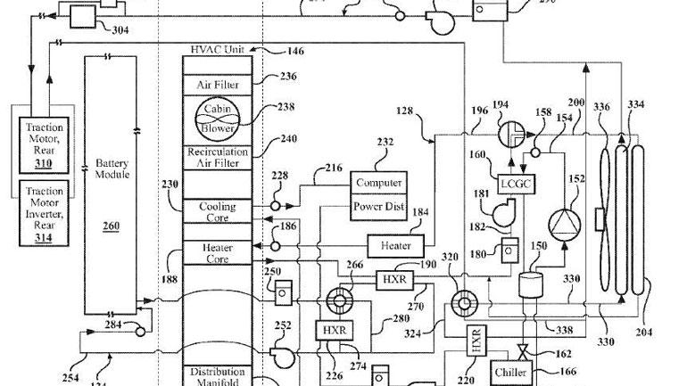Apple запатентовала систему охлаждения для электрокаров 1