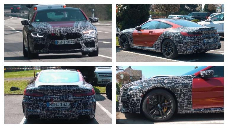 BMW M8 снимает камуфляж и делает горячие круги в Нюрбургринге 2