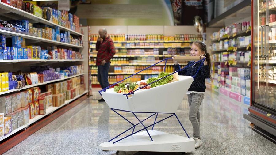 Ford придумал «умную» тележку для супермаркета 1