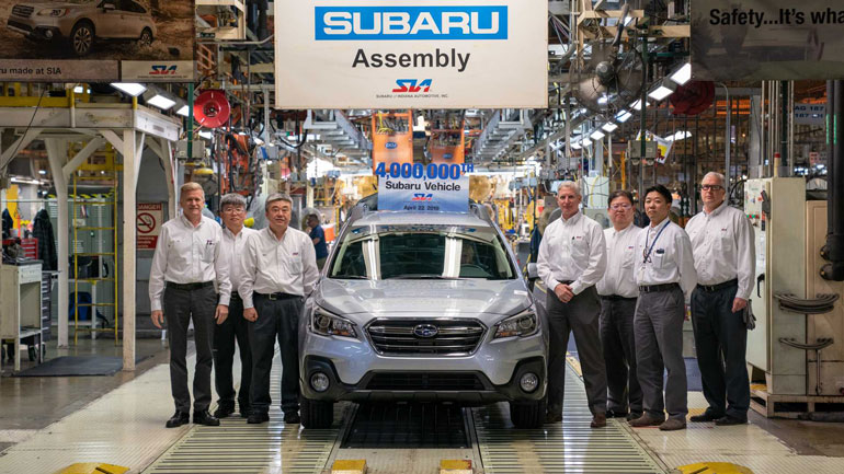 Subaru выпустила 4-миллионный автомобиль 1