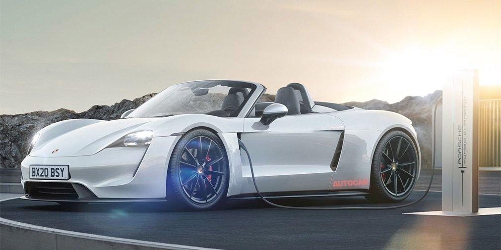 Следующие Porsche 718 Boxster и Cayman переведут на электрическую тягу 1