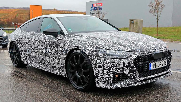 Опубликованы шпионские снимки новой Audi RS7 1