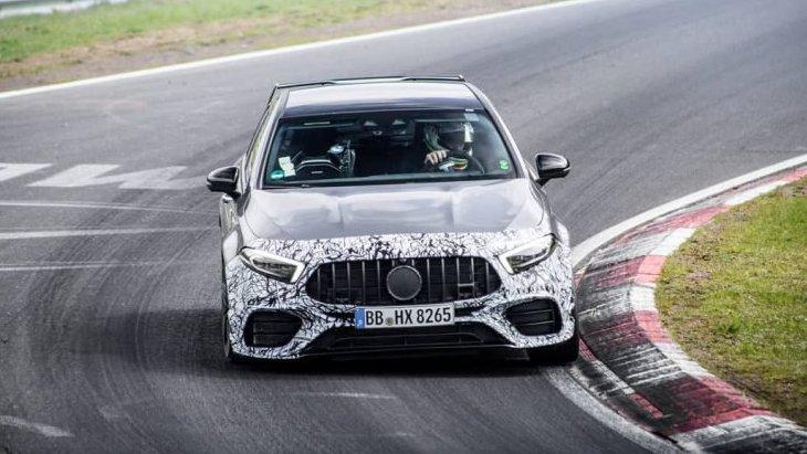 Спортивный Mercedes-AMG A45 засняли на тестах в Нюрбургринге 1