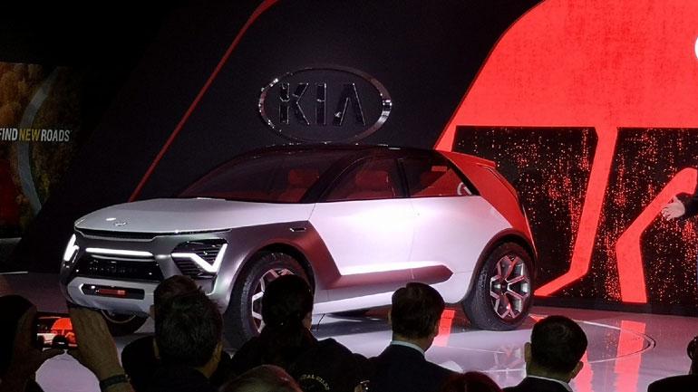 Kia представила новый электрический кроссовер Habaniro 1