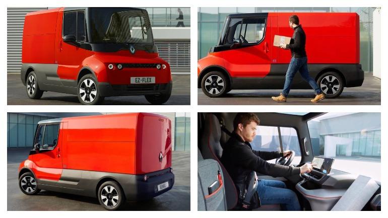 Компания Renault представила квадратный электрический фургон EZ-Flex 2
