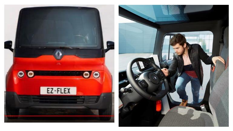 Компания Renault представила квадратный электрический фургон EZ-Flex 1