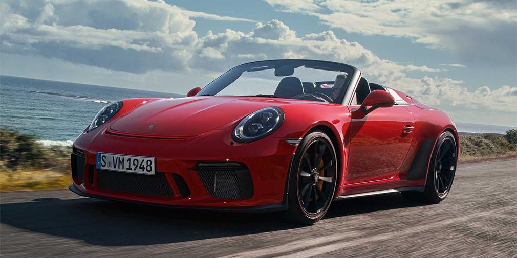 Новый Porsche 911 стал спидстером 1